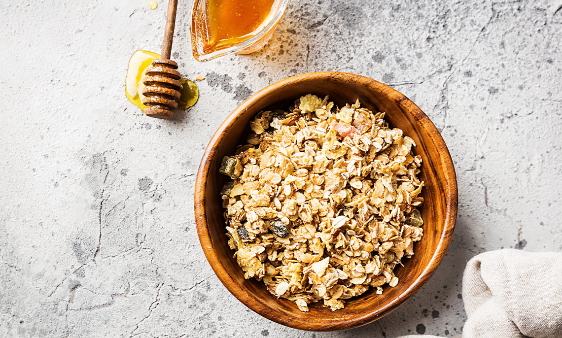 actualité - granola au miel