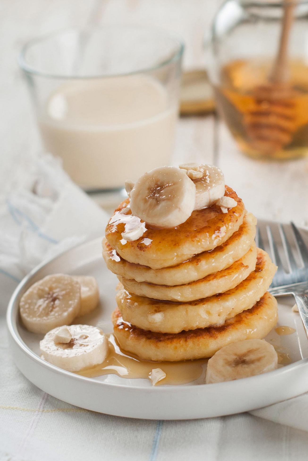 actualite recette - banana pancake au miel